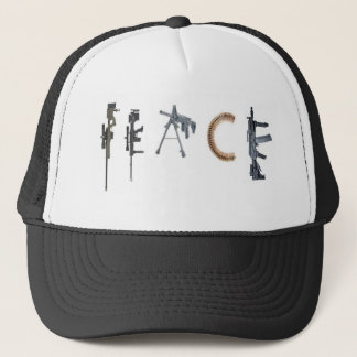 gun peace trucker hat
