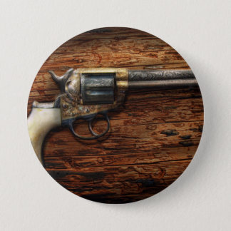 Gun- Police - True Grit 3 Inch Round Button