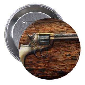 Gun- Police - True Grit 3 Inch Round Button