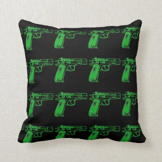 gun print throw pillow
