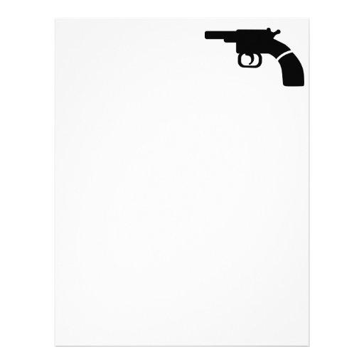 Gun revolver custom letterhead