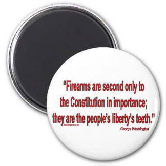 Gun Rights - Geo. Washington 2 Inch Round Magnet