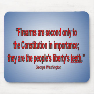 Gun Rights - George Washington Mouse Pad