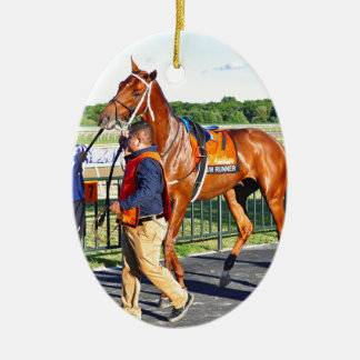 Gun Runner Ceramic Oval Ornament