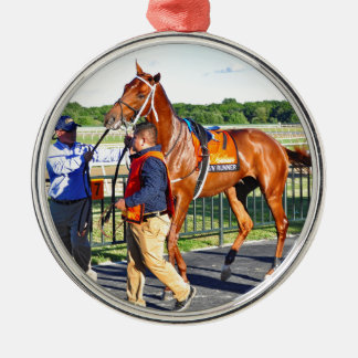 Gun Runner Silver-Colored Round Ornament