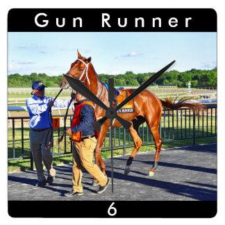 Gun Runner Square Wall Clock