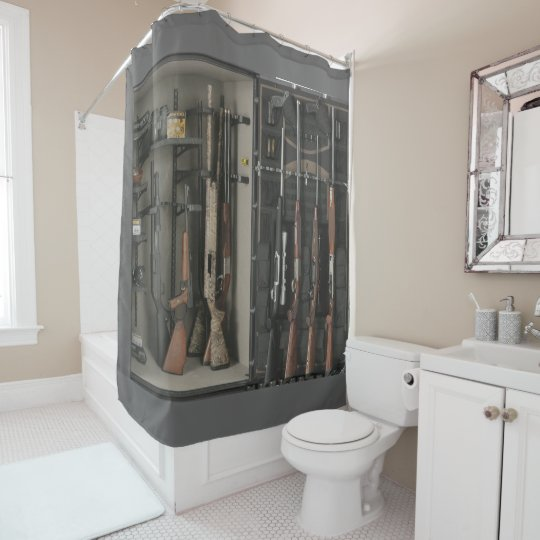 Gun safe Shower Curtain