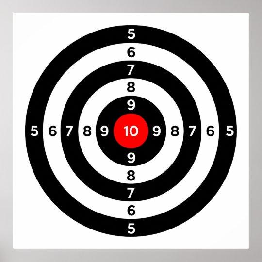 gun shooting range bulls eye target symbol poster | Zazzle.ca