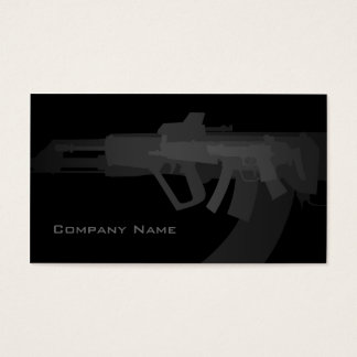 Gun Shop Simple Black Business Card