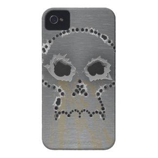 Gun Shots Holes Gothic Skull iPhone 4 Case
