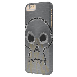Gun Shots Holes Headbones Skull Barely There iPhone 6 Plus Case