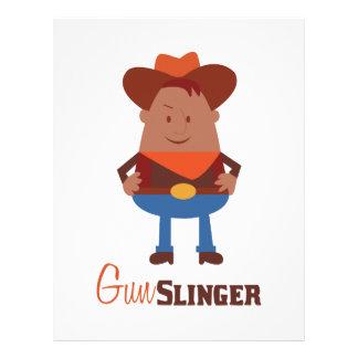 Gun Slinger Letterhead Template
