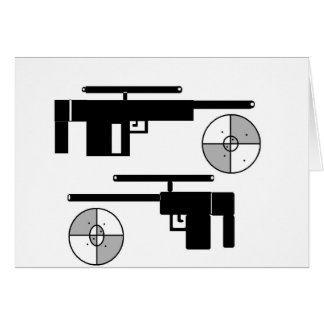 GUN TARGET CARD