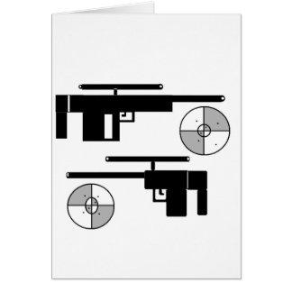 GUN TARGET GREETING CARDS