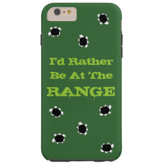 Gun Target Shooting Range Camo Green Bullet Holes Tough iPhone 6 Plus Case