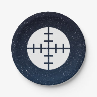 Gun Targets Pictograph Paper Plate