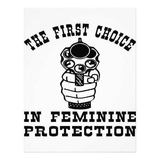 Gun The First Choice In Feminine Protection Letterhead