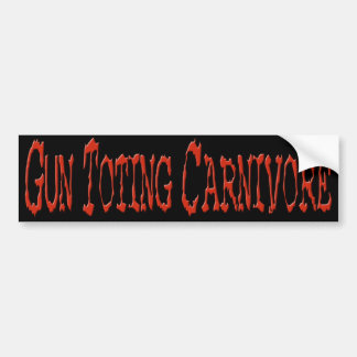 Gun Toting Carnivore Bumper Sticker Red