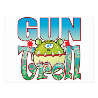 Gun Troll Postcard