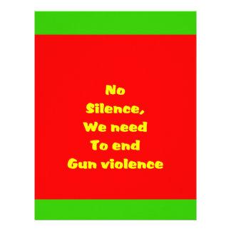 Gun violence letterhead