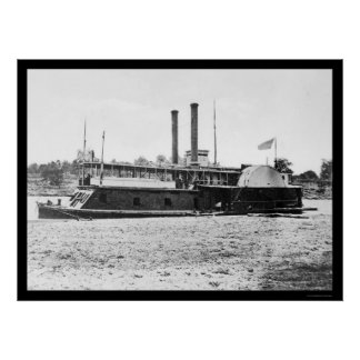 Gunboat Fort Hindman of the Mississippi Fleet 1861 Poster