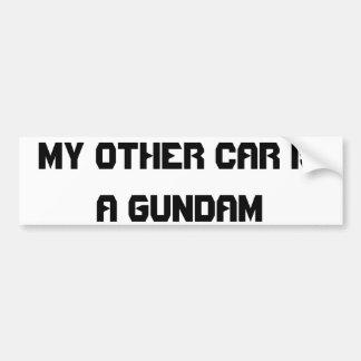 gundam bumper sticker