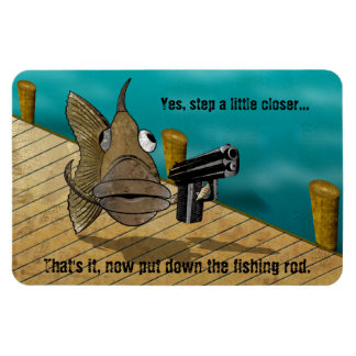 GunFish on Dock Magnet