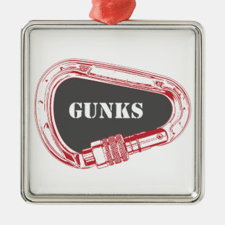 Gunks Climbing Carabiner Metal Ornament