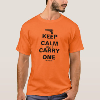 GunLink Keep Calm and Carry One 1911 Tee, Light T-Shirt