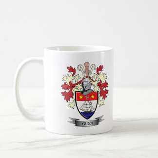 Gunn Family Crest Coat of Arms Coffee Mug