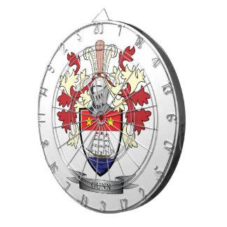Gunn Family Crest Coat of Arms Dart Board