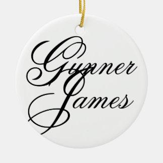 Gunner James Ceramic Ornament