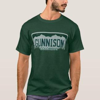 Gunnison Colorado guys license plate tee