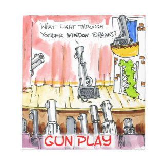 GunPlay Funny Cartoon Notepad