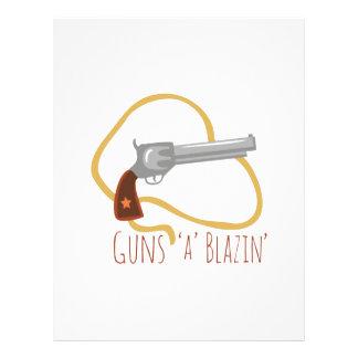 Guns a Blazin Letterhead Template