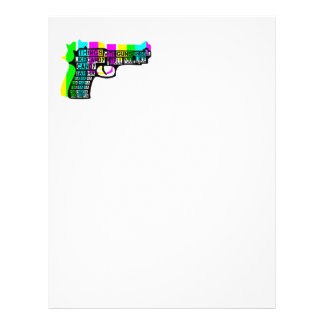Guns and Candy Personalized Letterhead