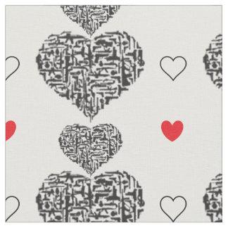 Guns and Hearts Fabric