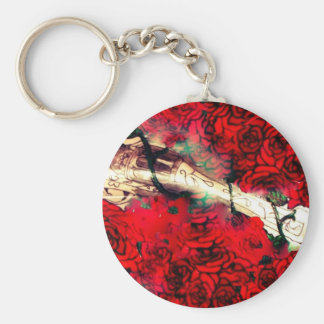Guns and roses keychain