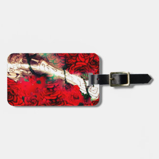 Guns and roses luggage tag