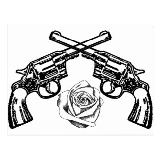 guns and roses post cards