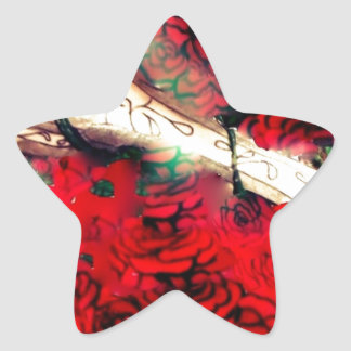 Guns and roses star sticker