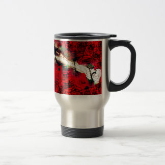 Guns and roses travel mug