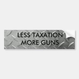 Guns and taxes sticker bumper sticker