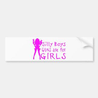 GUNS ARE FOR GIRLS BUMPER STICKER