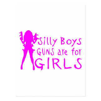 GUNS ARE FOR GIRLS POSTCARD
