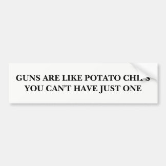 Guns are Like Potato Chips Bumper Sticker