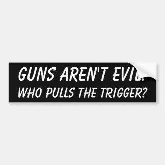 Guns aren't Evil Bumper Sticker