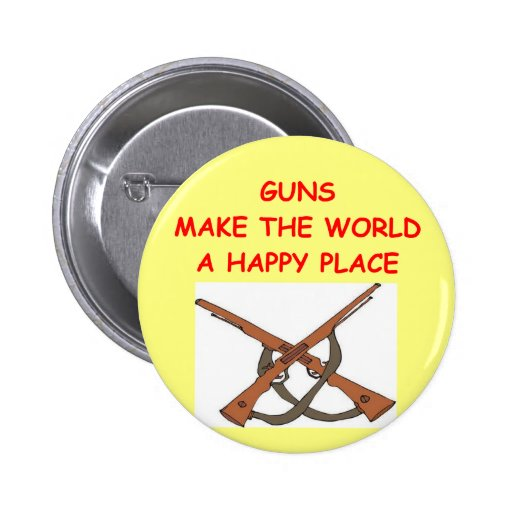 guns pinback button