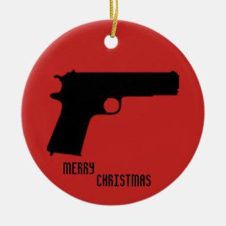 Guns Ceramic Ornament