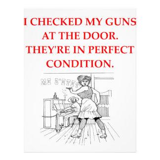 guns customized letterhead